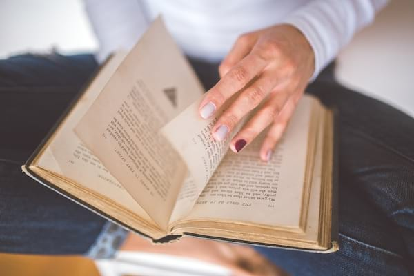 beauty, books, nail polish, nails, purple nails, old book, reading, pages, read, hero, result, girl, woman