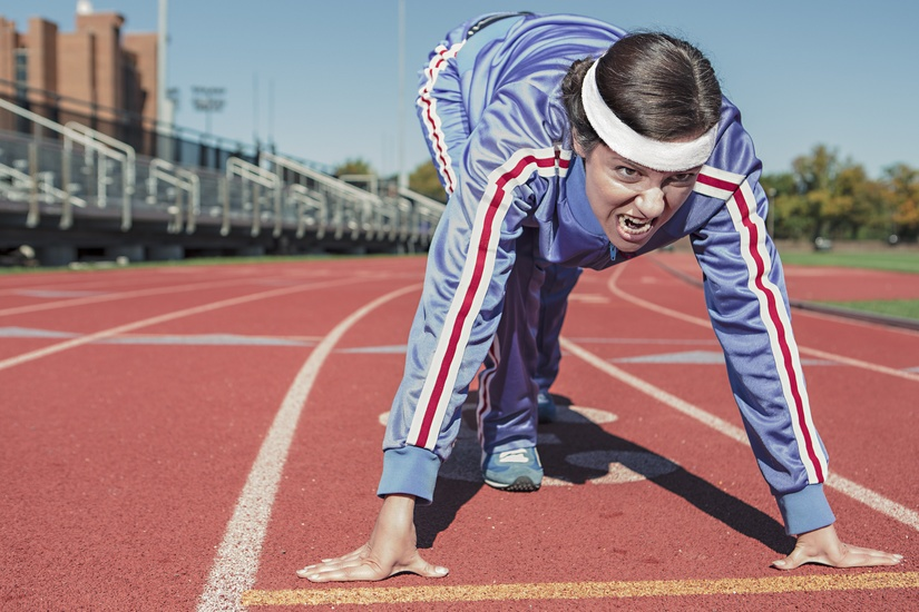fitness, track, running, tracksuit, sweatband, sneakers, exercise