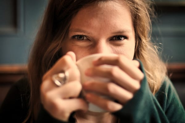 woman, girl, happy, freckles, ring, coffee, Tea, coffee shop, warm, winter, cold, beauty, home