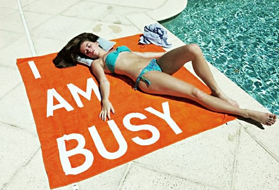 busy, towel, work, career, relax, vacation, bikini, woman, girl, pop culture