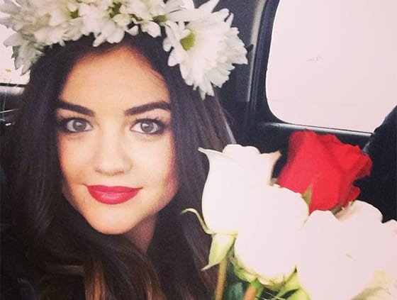 flower crown, lucy hale, flower