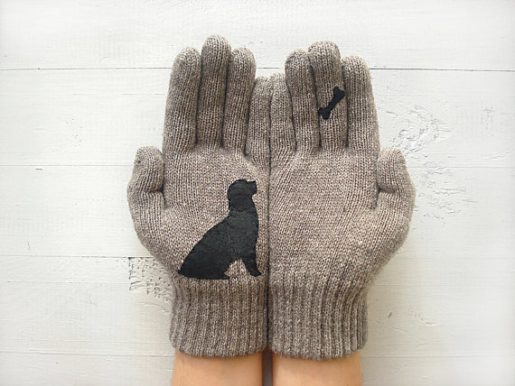 mittens, gloves, winter, cold, clothes, animals