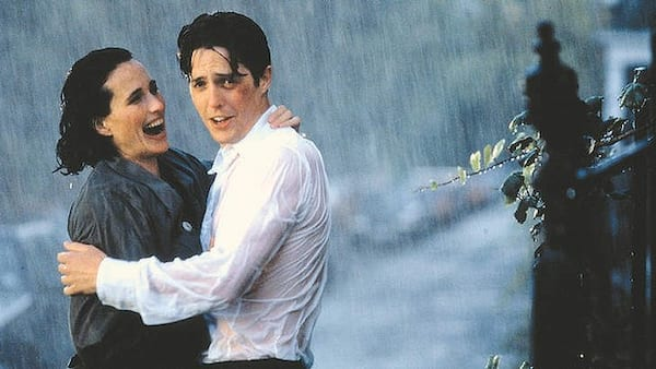 movies/tv, Four Weddings and a Funeral, rain, relationships