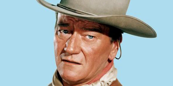 John Wayne, Westerns, movies/tv