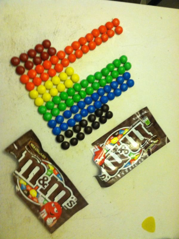 M&Ms, candy, food & drinks
