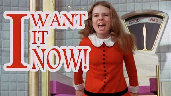 Veruca Salt, Willy Wonka, Willy Wonka and The Chocolate Factory, movies/tv, relationships, culture, pop culture
