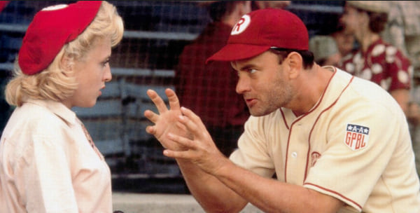A League Of Their Own, baseball, movies/tv