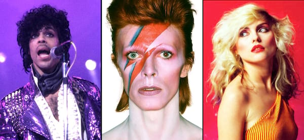 80s music, 80s icons, prince, david bowie, blondie, cher