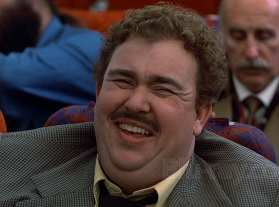 Planes Trains and Automobiles, Del Griffith, John Candy, john hughes, laughing, suit and tie, celebs, movies/tv