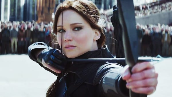 hunger games, bow and arrow, jennifer lawrence, celebs, movies/tv