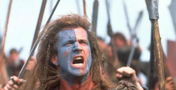 braveheart, Mel Gibson, yelling, celebs, movies/tv, culture, travel