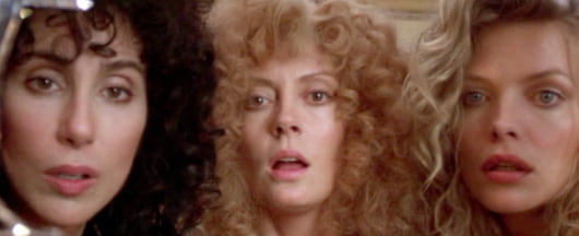 The Witches of Eastwick, cher, Susan Sarandon, Michelle Pfeiffer, movies/tv