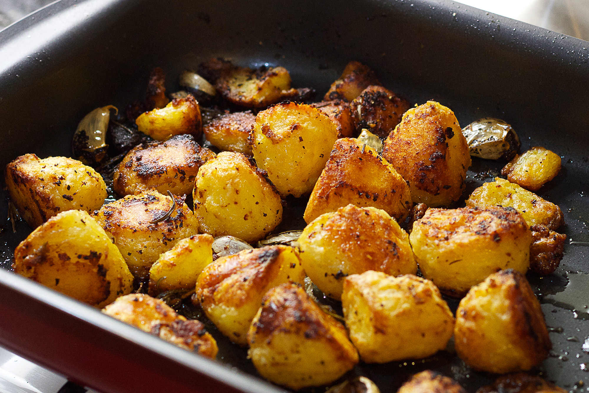 potatoes, roasted, yummy, dinner, food & drinks