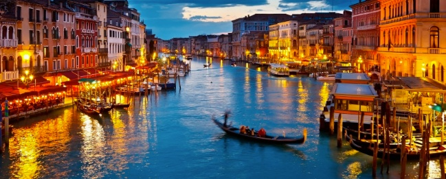 Italy, venice, sunset, gondola, beautiful, opera, blue, water, river, boat, lovers, beauty, culture, food & drinks, pop culture, travel