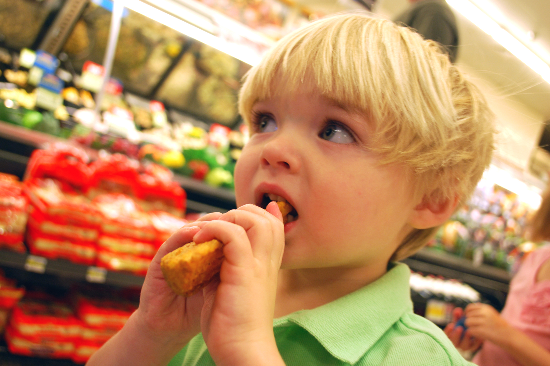 kid, grocery store