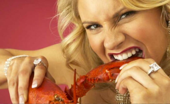 lobster, eating, food & drinks