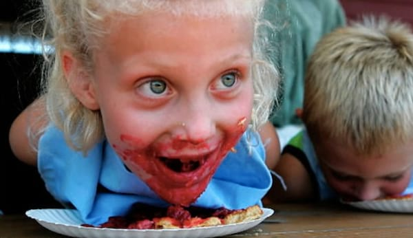 food, pie eating contest, contest, kids