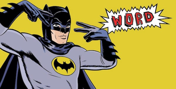 batman, word, hip, slang, cool