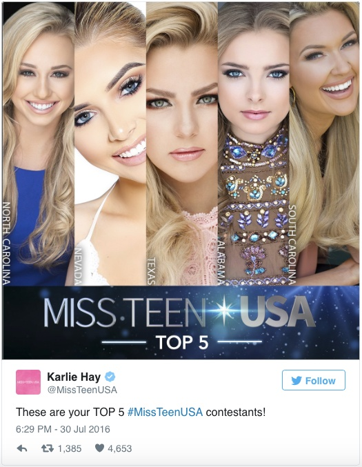 twitter, miss teen usa