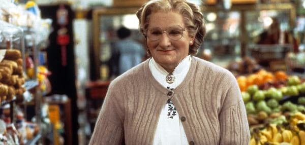 mrs. doubtfire, movies/tv