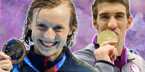 olympics, gold medals, swimming, katie ledecky, Michael Phelps, pop culture