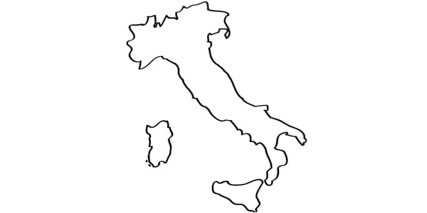 Italy, outline, country