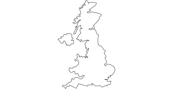 united kingdom, map, outline