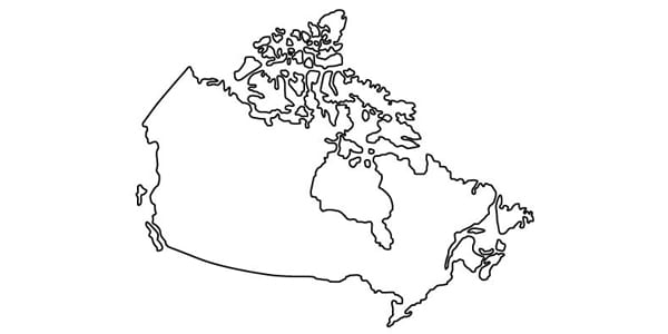 canada, map, outline