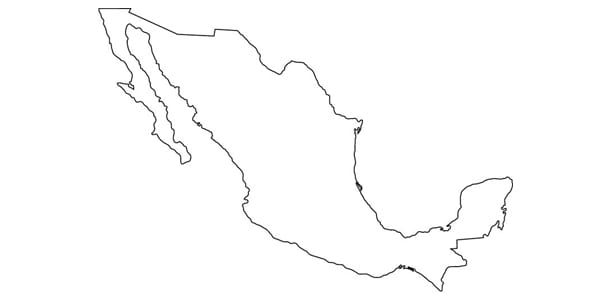 mexico, outline, country, map