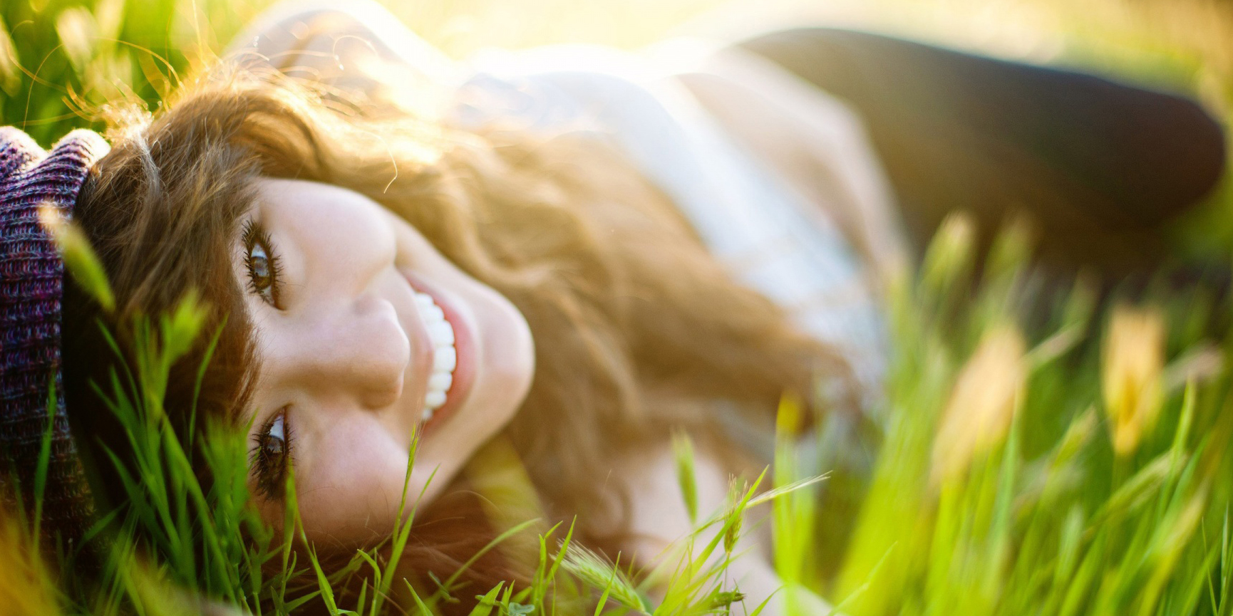 girl, smiling, nature, Outdoors