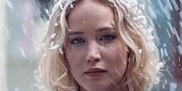 jennifer lawrence, snow, cold, winter
