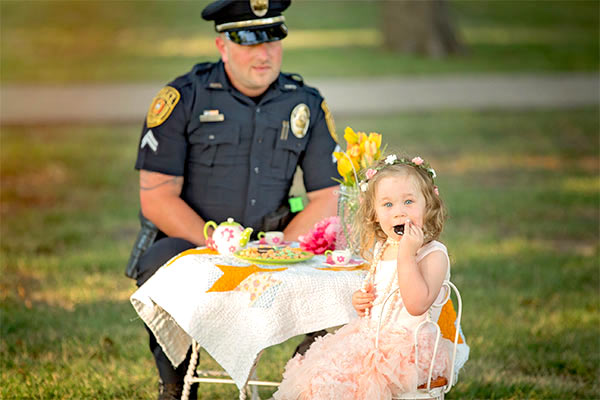 tea party, police, officer, Tea, toddler, cute, culture