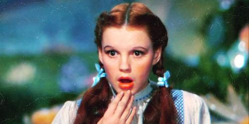 the wizard of oz, judy garland, dorothy, shocked, movies/tv