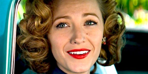 blake lively, the age of adeline, red lip, makeup, lipstick, movies/tv, beauty