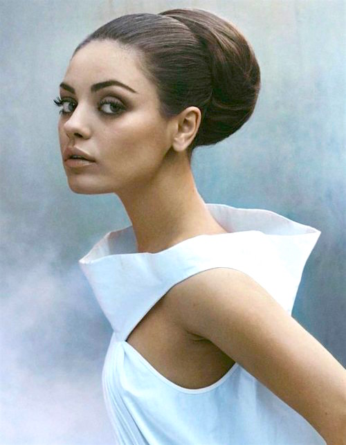 #2016, #Buns, #HairTrends, #FashionTrends, #MilaKunis, culture, beauty, fashion, pop culture