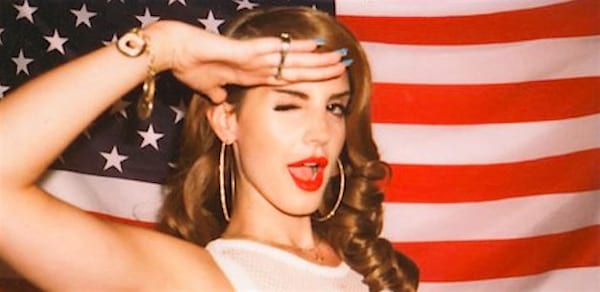 lana del rey, State Capital, Patriotic, usa, flag, wink, pop culture, Music, celebs, culture