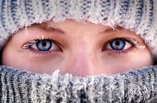eyes, Minnesota, winter, snow