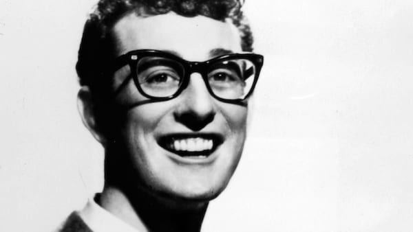 Buddy Holly, rock and roll, black and white, 1950s, celebs, Music, pop culture