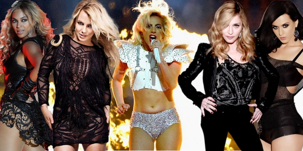 super bowl, lady gaga, madonna, beyonce, katy perry, britney spears, Music, celebs