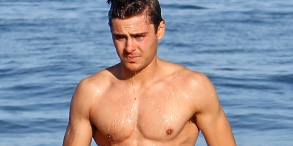 zac efron, Baywatch, beach, ocean