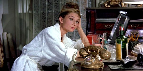 phone, telephone, audrey hepburn, breakfast at tiffany's, holly golightly, movies/tv