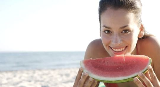 beach, watermelon