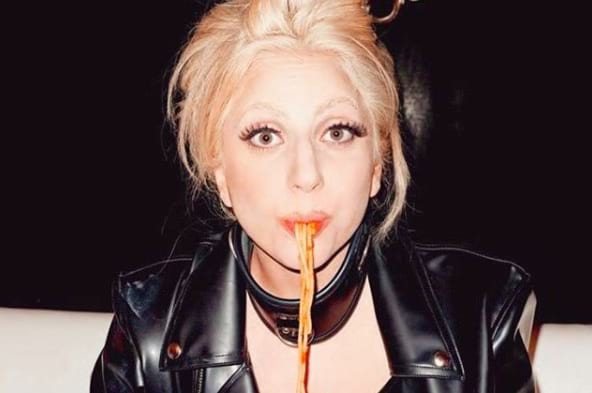 lady gaga, pasta, italian, food, eating, eat