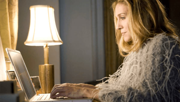 sarah jessica parker, sex and the city, lap top, movies/tv, pop culture, relationships