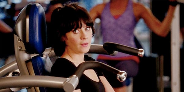 gym, workout, exercise, new girl