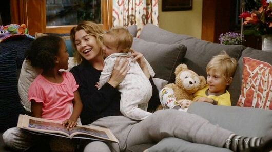 grey's anatomy, meredith grey, meredith, ellen pompeo, grey's anatomy kids, grey's anatomy babies, zola