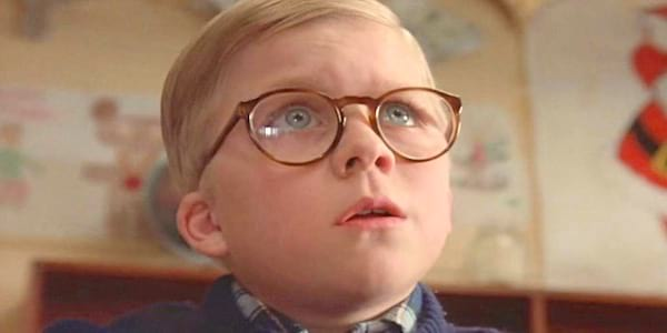 ralphie, kid, glasses, think, nerd