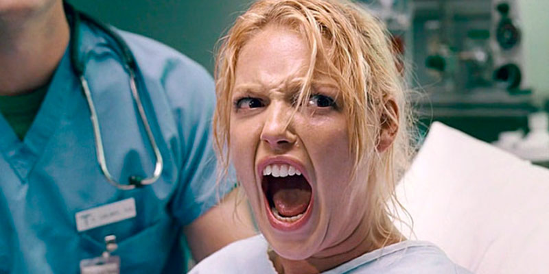 health, movies/tv, Katherine Heigl's character in labor in Knocked Up