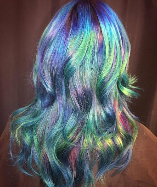 holographic hair, beauty