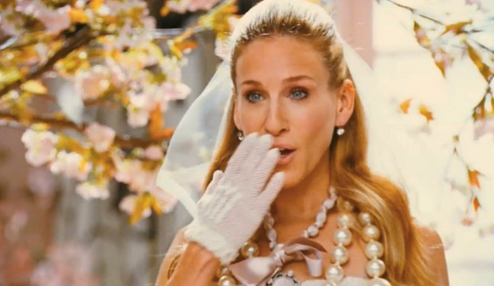 bride, shocked, surprised, sex and the city, oh, wow, carrie, carrie bradshaw, wedding, marriage, shock
